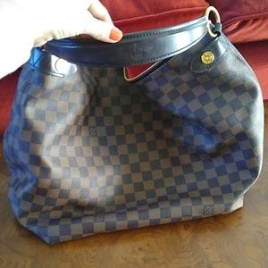 Brown checker print Louis Vuitton